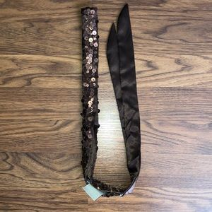 NWT Brown Fabric Belt with Sequins from AEO